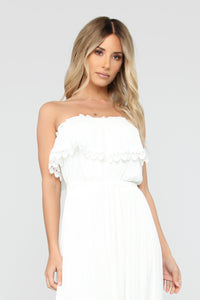 Out Of The City Tube Maxi Dress - White Angle 2
