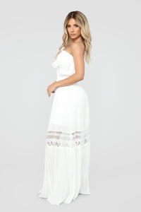 Out Of The City Tube Maxi Dress - White Angle 3