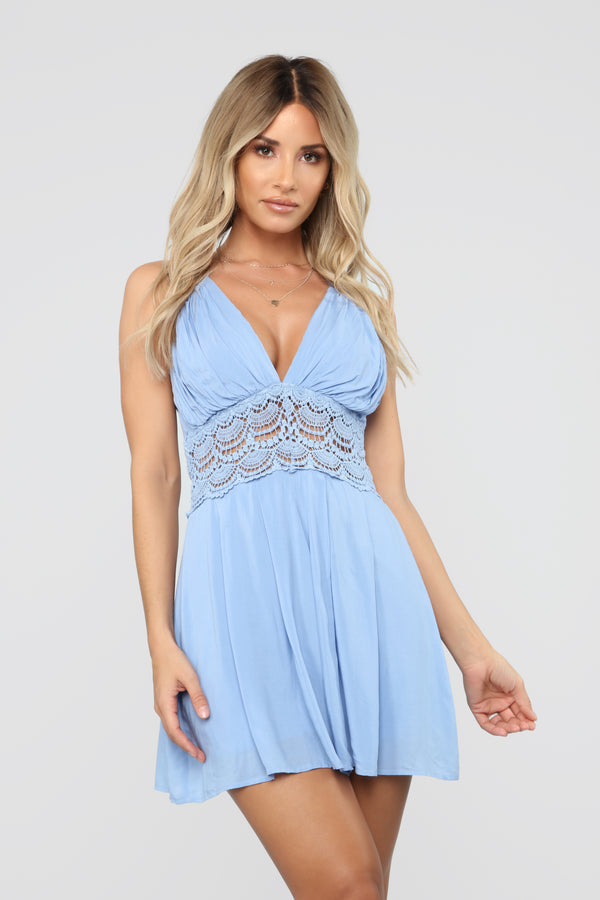 9f7cb72f8a09 Weave You Into My Dreams Romper - Light Blue
