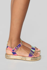It's Been Awhile Flat Sandals - Multi Angle 3