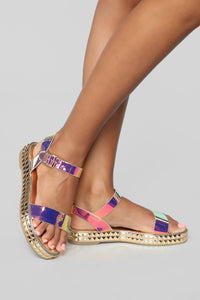 It's Been Awhile Flat Sandals - Multi Angle 1