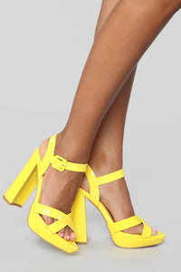 The Way I Am Heeled Sandals - Yellow