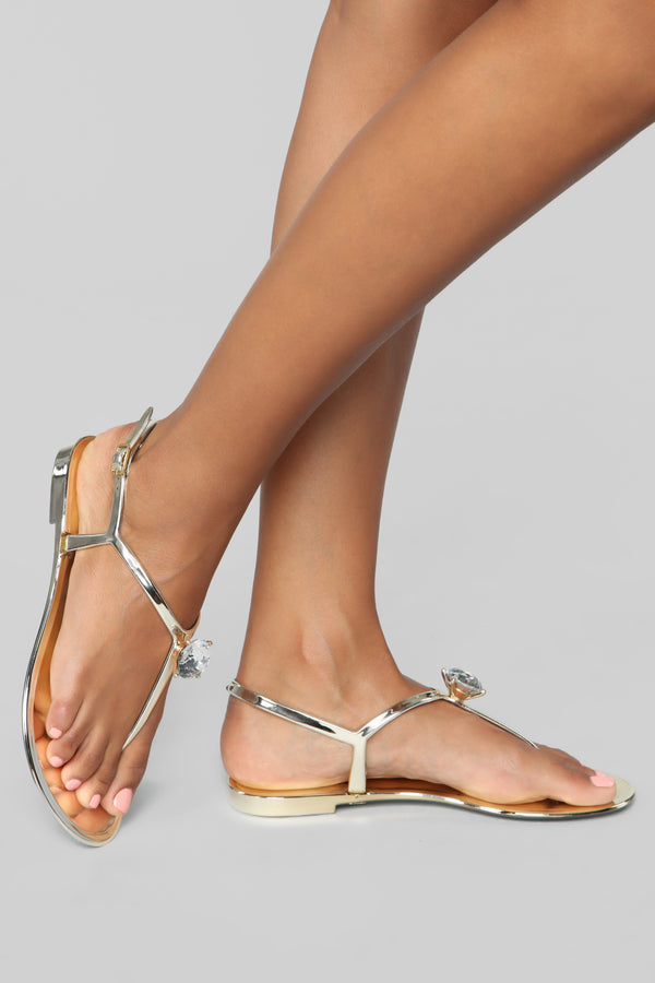 dadc20c6d9e Outshine You Flat Sandals - Gold