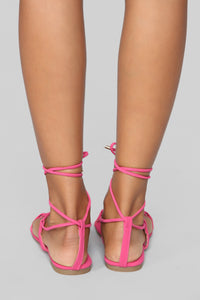 Keep It Moving Flat Sandals - Pink