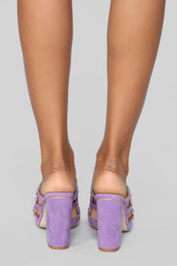All At Once Heeled Sandals - Lavender