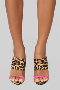 Had It All Heeled Sandals - Leopard