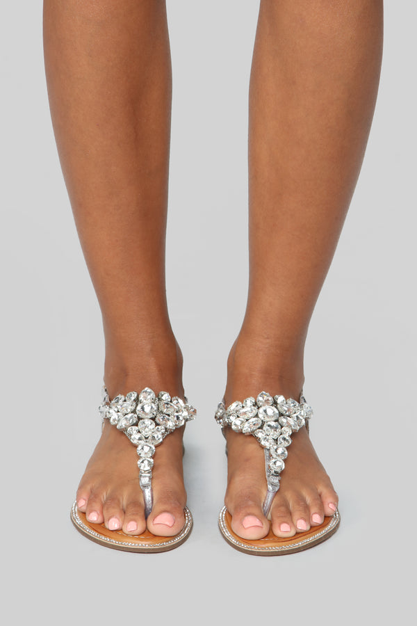 ce2a9ab67 Second Date Flat Sandals - Silver