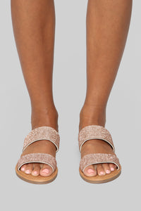 Once Again Flat Sandal - Rose Gold