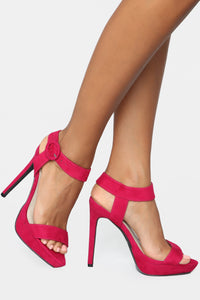 Waiting For You Heeled Sandal - Fuchsia
