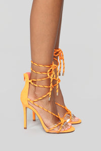 Move It Heeled Sandal - Neon Orange