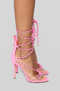 Move It Heeled Sandal - Neon Pink