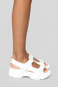 No Exceptions Flat Sandals - White
