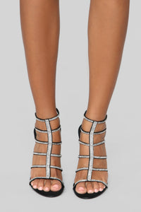 Try Again Heeled Sandals - Black