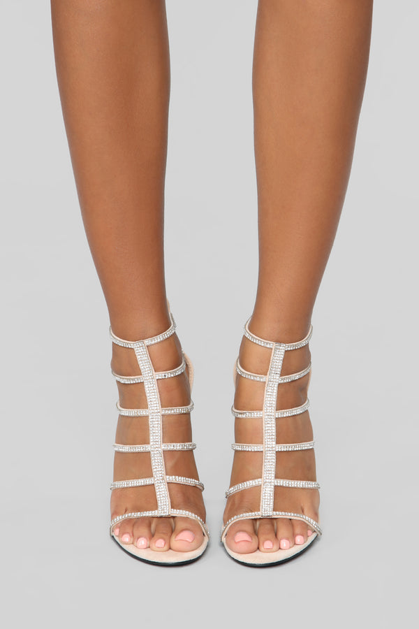 0d846eb0b01e Try Again Heeled Sandals - Nude