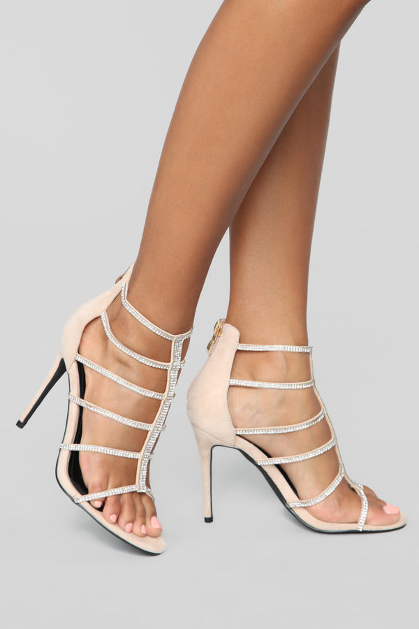 2f025c5d8b02 Try Again Heeled Sandals - Nude