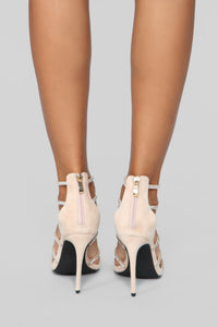 Try Again Heeled Sandals - Nude