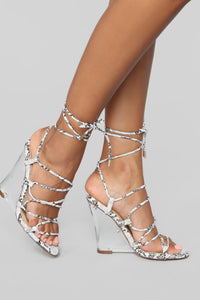 Blissful Heeled Sandals - Snake