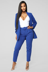 Talia Belted Pants - Royal Angle 1