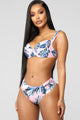 Tropical Vacation 2 Piece Swimsuit - Blue/combo