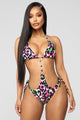 Kill 'Em With Kindness Monokini - Pink/Combo