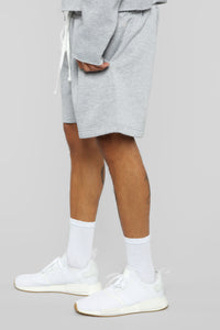 La Brea Shorts - Heather Grey Angle 3