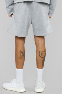 La Brea Shorts - Heather Grey Angle 5