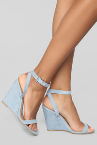 Excuse Me Miss Wedges - Blue