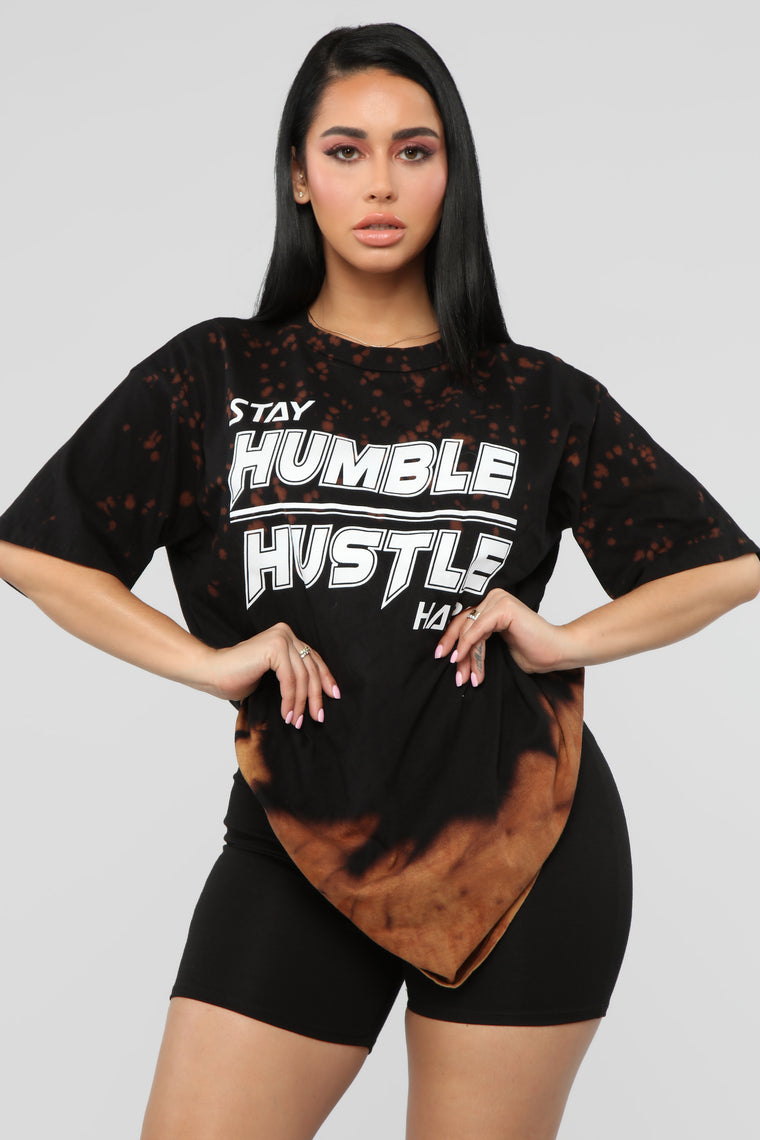Be Humble Short Sleeve Top - Black Combo