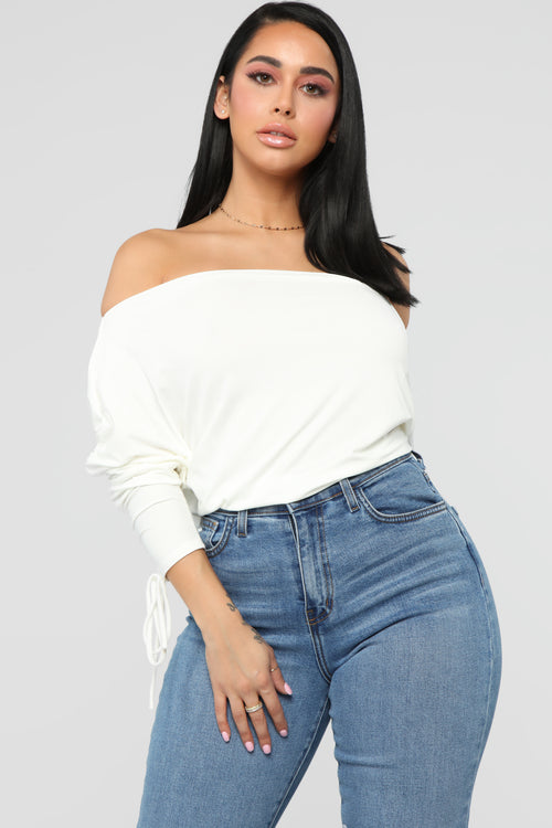 Run With It Top - Ivory