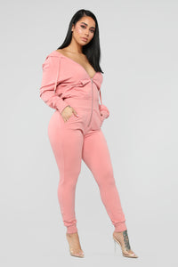 Cute Or Whateva Jumpsuit - Mauve
