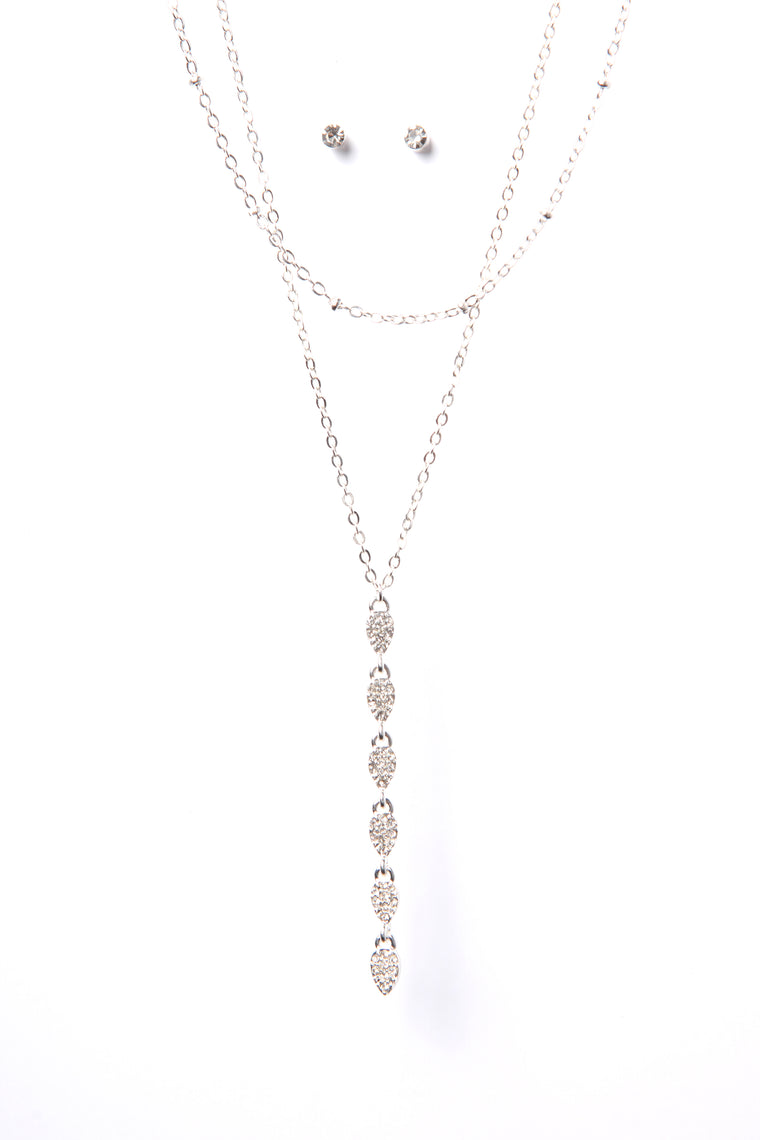 Dropped My Jewels Necklace - Silver