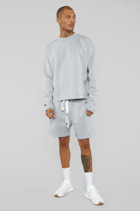 La Brea Shorts - Heather Grey Angle 2