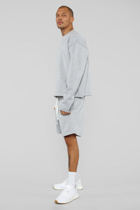 La Brea Shorts - Heather Grey Angle 4