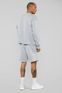 La Brea Shorts - Heather Grey Angle 6