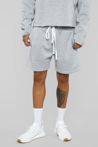 La Brea Shorts - Heather Grey Angle 1