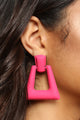 Who's At The Door Earrings- Fuchsia