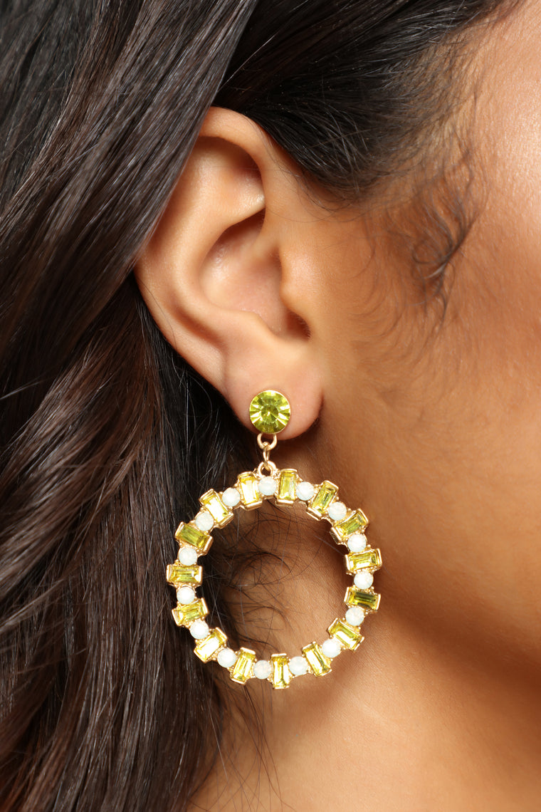 Take You Home Earrings - Yellow
