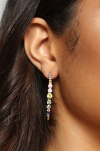 With Flying Colors Hoop Earrings - MultiColor