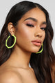 Shape Things Up Earrings - Lime Green