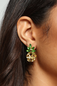 Pineapple Love Earrings - Gold