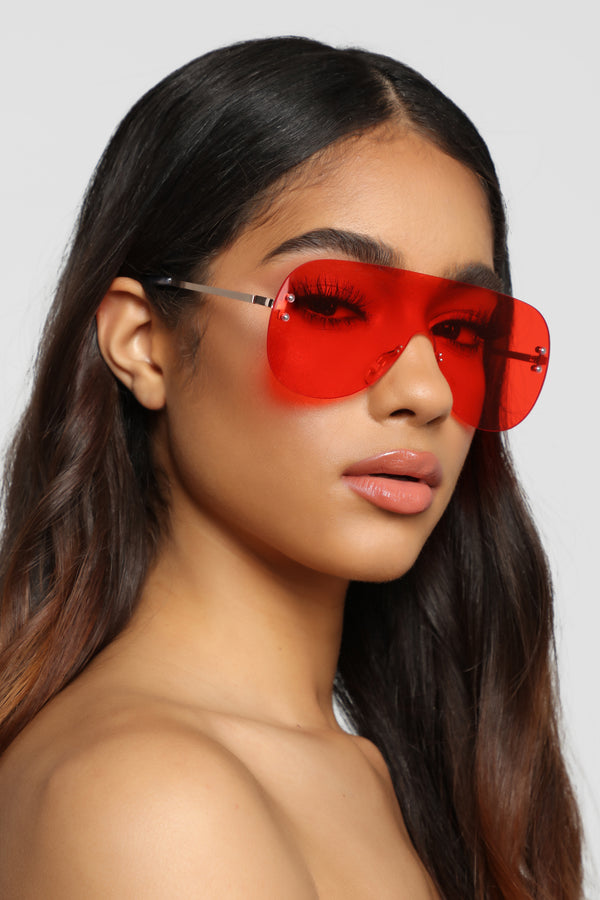 e7b1b081a4 Maybe Later Sunglasses - Red