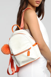 Good For Everything Backpack - White Angle 1