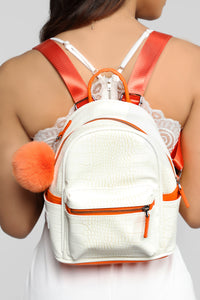 Good For Everything Backpack - White Angle 2