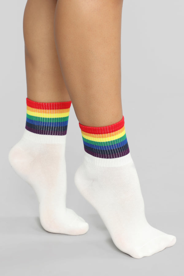 ba1e45996 Your True Colors Socks - White. Notify Me When Available