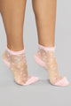 Heart To Mesh With Socks - Pink