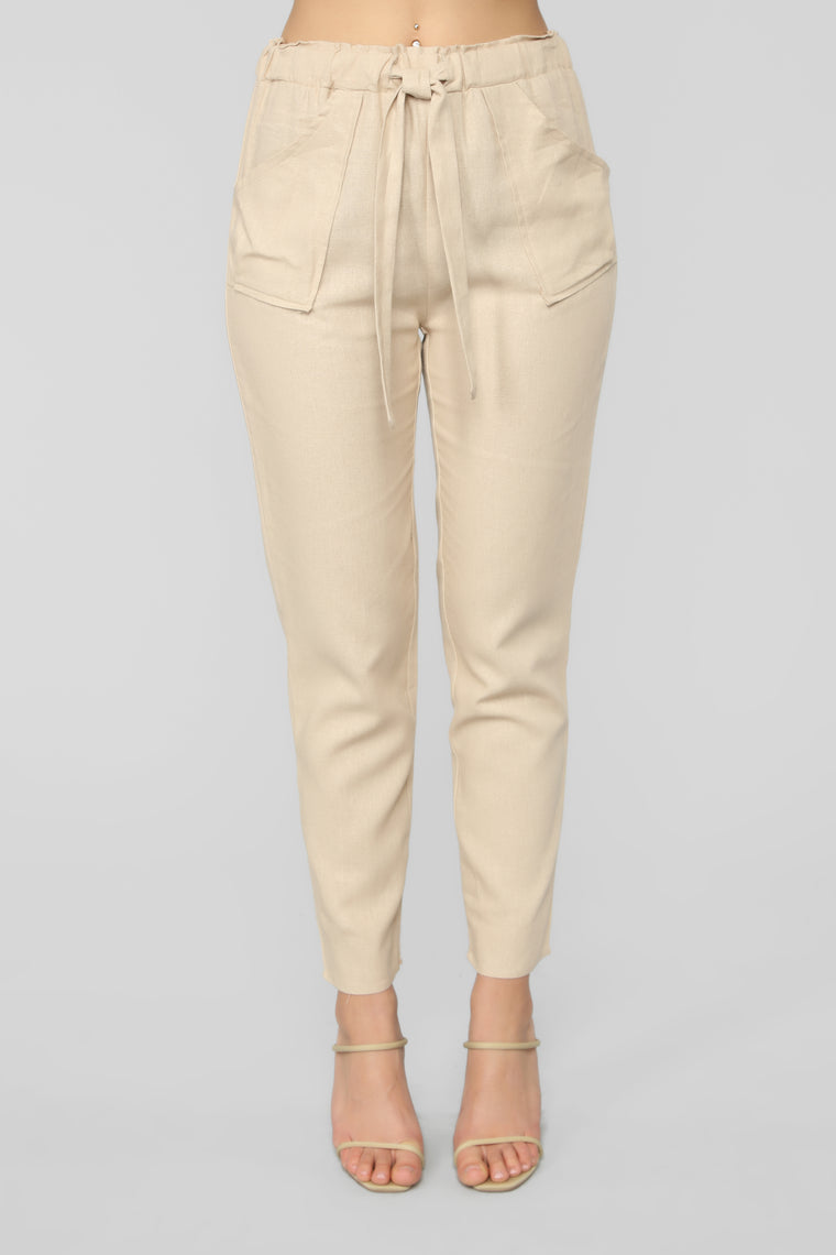 All Tied Up Pants - Tan
