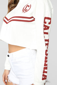 Cali Rugby Top - Off White