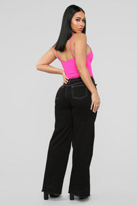 Forever Together Bodysuit - Neon Pink