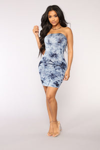 Commotion Tie Dye Dress - Navy