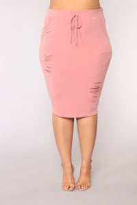 Casual Lover Skirt - Mauve Angle 9